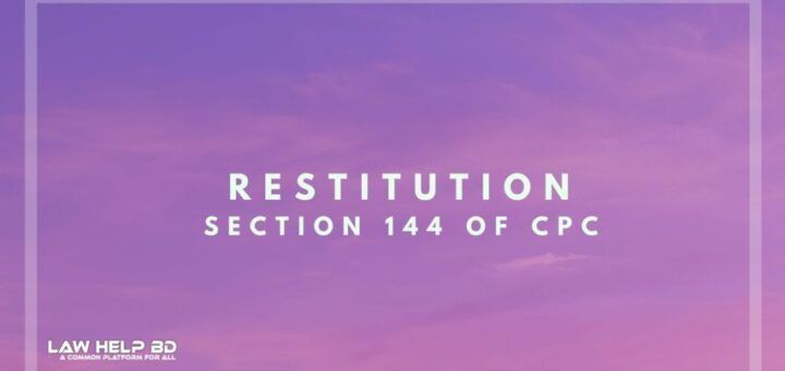 Restitution section 144 of Cpc